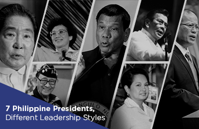 7 Philippine Presidents, Different Leadership Styles