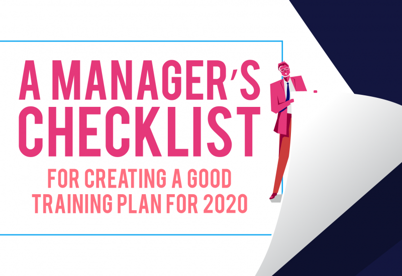 A Manager's Checklist for Creating a Good Training Plan for 2020-03
